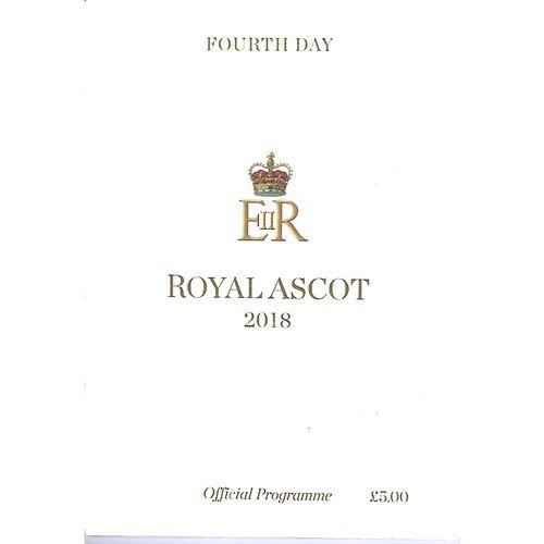 2018 Ascot Horse Racing Racecard (2/06/2018) Royal Ascot - Fourth Day