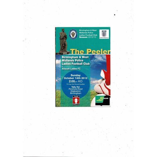 Non League Police Football Programmes