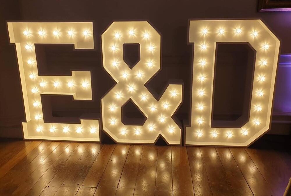4ft Light Up Letters E & D