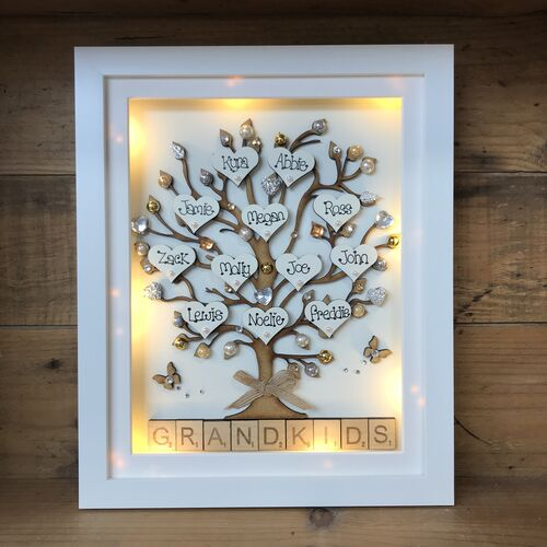 Large Grandkids family tree frame
