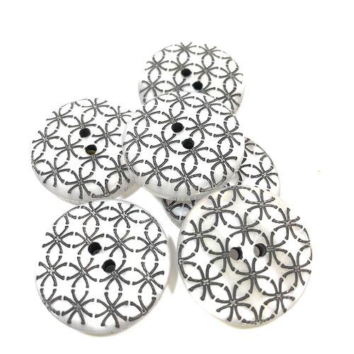 Geometric Design Button 28mm