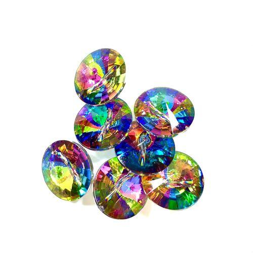 Glass Rainbow Buttons 18mm