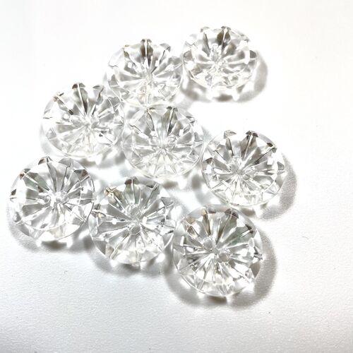 Clear Flower Effect Buttons 20mm
