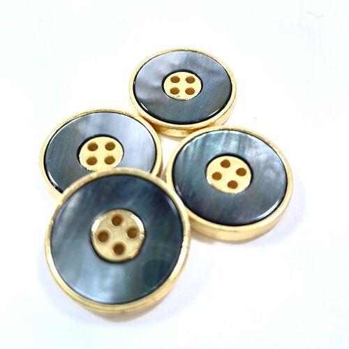 Metal Base 4 Hole Button 24mm