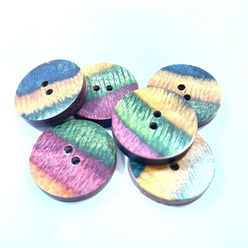Knit Pro Flat Round Wooden Buttons 25mm