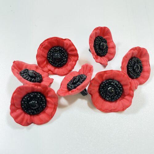 Poppy Buttons 20mm