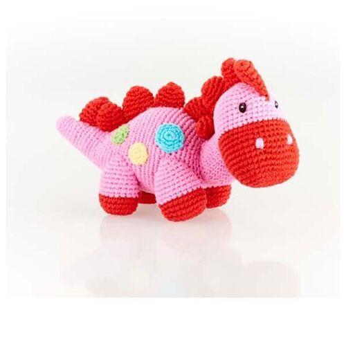 Steggi Pink Dinosaur Rattle