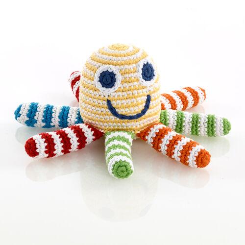 Yellow Octopus Rattle