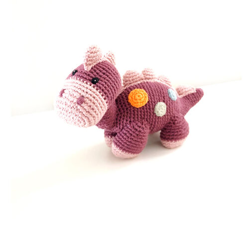 Steggi Soft Purple Dinosaur Rattle