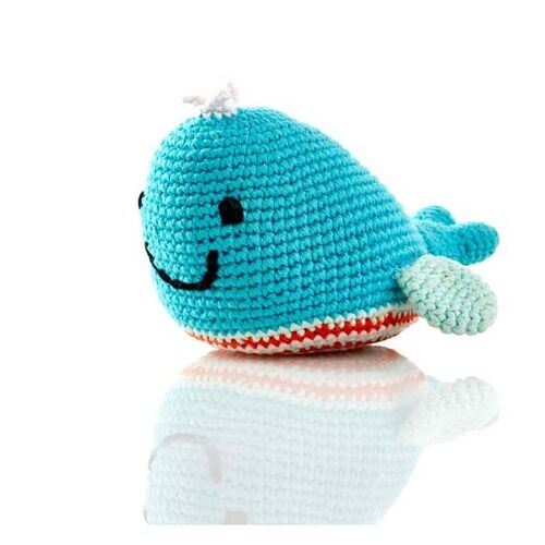 Turquoise Whale Rattle