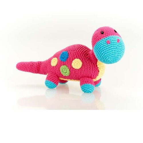 Pink Dippi Dinosaur Rattle