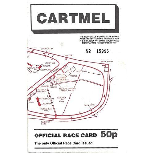 1987 Cartmel Summer Bank Holiday Meeting (31/08/1987) Horse Racing Racecard