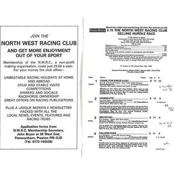 Cartmel Horse Racing Racecards/Programmes