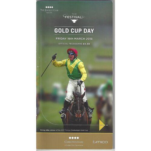 Cheltenham Horse Racing Racecards/Programmes