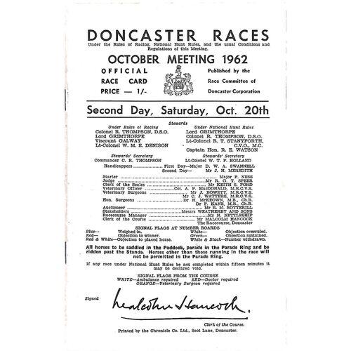 Doncaster Horse Racing Racecards/Programmes