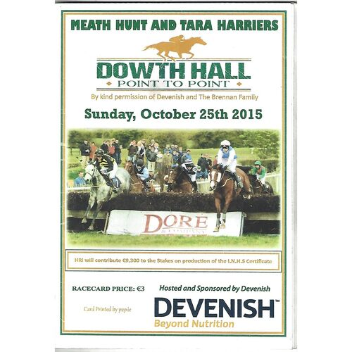 Dowth Hall Horse Racing Racecards/Programmes