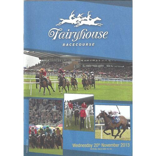 2013 Fairyhouse Race Meeting (20/11/2013) Horse Racing Racecard