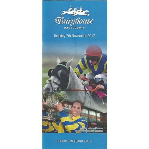 2017 Fairyhouse Race Meeting (07/11/2017) Horse Racing Racecard