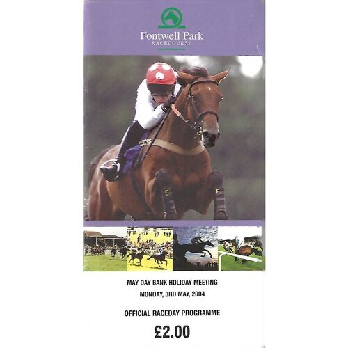 2004 Fontwell Park May Day Bank Holiday Meeting (03/05/2004) Horse Racing Racecard