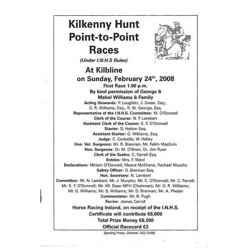 Kilbline Horse Racing Racecards/Programmes