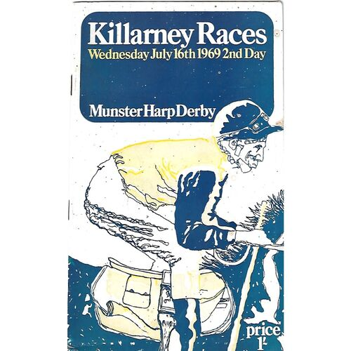 1969 Killarney Munster Harp Derby Meeting (16/07/1969) Horse Racing Racecard