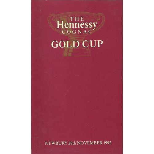 1992 Newbury Hennessey Gold Cup Meeting (28/11/1992) Horse Racing Racecard