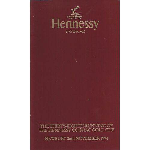 1994 Newbury Hennessey Gold Cup Meeting (26/11/1994) Horse Racing Racecard