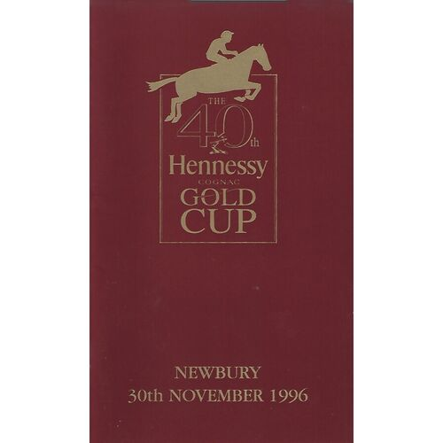 1996 Newbury Hennessey Gold Cup Meeting (30/11/1996) Horse Racing Racecard