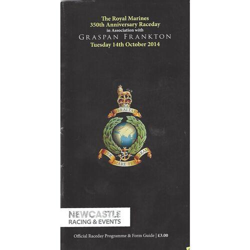2014 Newcastle The Royal Marines 350th Anniversary Raceday Meeting (14/04/2014) Horse Racing Racecard