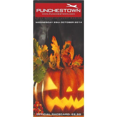 2014 Punchestown Race Meeting (29/10/2014) Horse Racing Racecard
