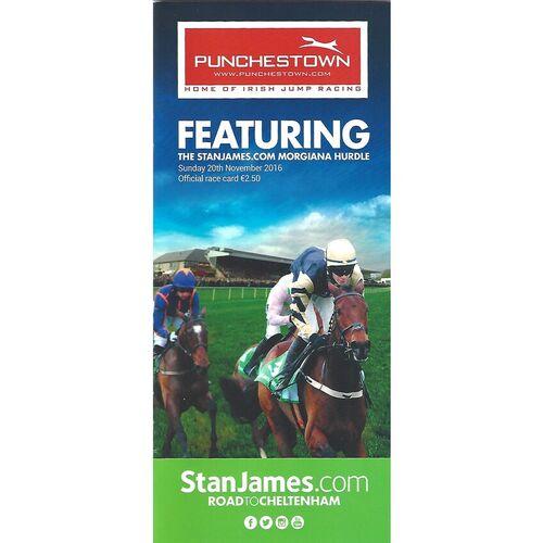 2016 Punchestown Race Meeting (20/11/2016) Horse Racing Racecard