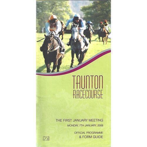 Taunton Horse Racing Racecards/Programmes