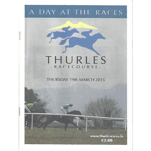 2015 Thurles Race Meeting (19/03/2015) Horse Racing Racecard