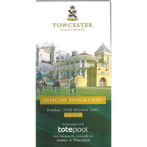 2005 Towcester Race Meeting (23/10/2005) Horse Racing Racecard