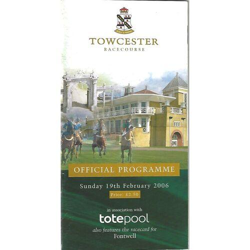 Towcester Horse Racing Racecards/Programmes