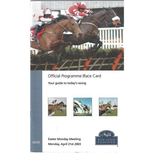 Wincanton Horse Racing Racecards/Programmes
