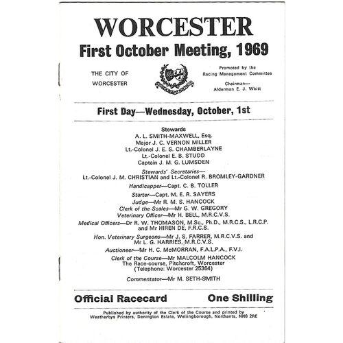 Worcester Horse Racing Racecards/Programmes