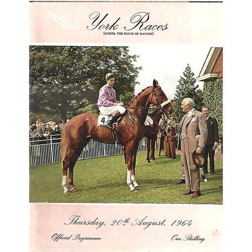 1964 York Race Meeting (20/08/1964) Horse Racing Racecard