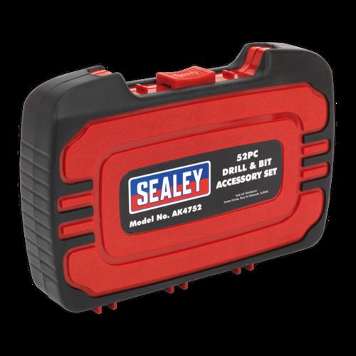 Drill & Bit Accessory Set 52pc - AK4752 - Sealey