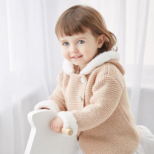 Fur Trimmed Hooded Jacket Knitting Pattern 5305