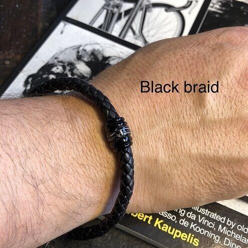 Men's Leather Bracelet & Bead