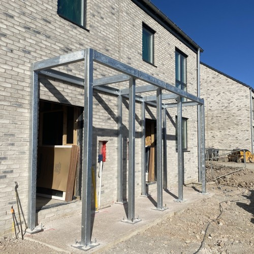 Porch / Bike shed installation