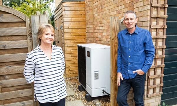 At home with a heat pump: 'It makes hot water when it's freezing outside