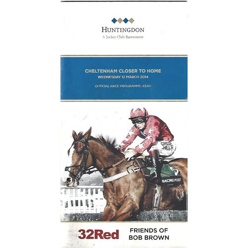 Huntingdon Horse Racing Racecards/Programmes
