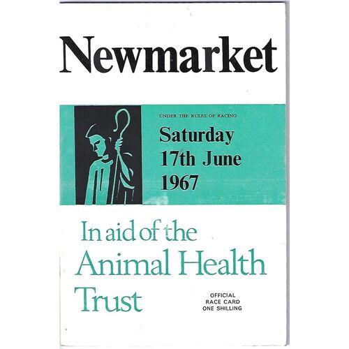 1967 Newmarket Animal Health Trust Race Meeting (17/06/1967) Horse Racing Racecard