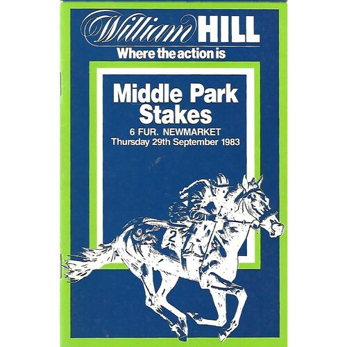 1983 Newmarket October (Middle Park Stakes) Race Meeting (29/09/1983) Horse Racing Racecard