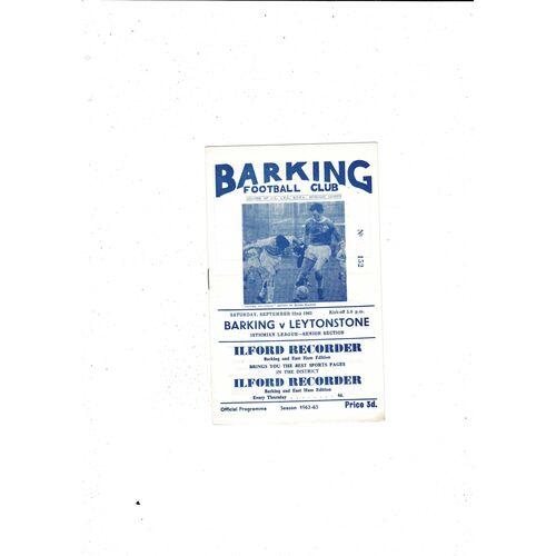1962/63 Barking v Leytonstone Football Programme