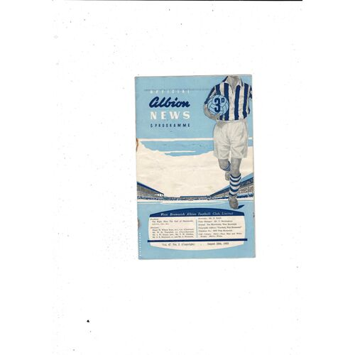 1955/56 West Bromwich Albion v Wolves Football Programme