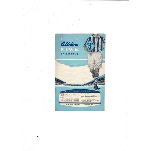 1956/57 West Bromwich Albion v Wolves Football Programme
