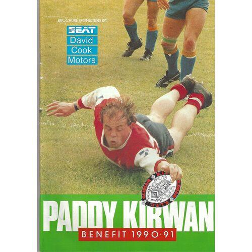 1990 Paddy Kirwan Testimonial Brochure & Oldham v Bradford Northern Benefit Match Teamsheet